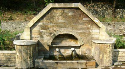 Чешма с минерална вода в Минерални бани